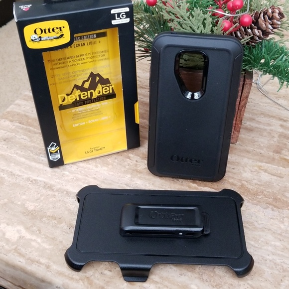 best loved 9d85d d751f Black LG G7 ThinQ OtterBox Defender Case NWT